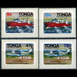 TONGA 1982 - Scott# 513-6 Transport Imperf. Set of 4 NH