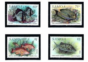 Samoa 819-22 MNH 1993 Fish