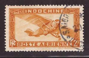French Indo-China Scott C15 Used Airmail stamp