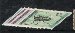 El Salvador Insects SC 80, 80a, C267-8 MOG (6eej)