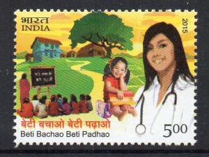 INDIA - BETI BACHAO BETI PADHAO - SEND GIRLS TO SCHOOL - 2015 -