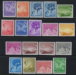 Seychelles Scott 173-190 Mint Hinged