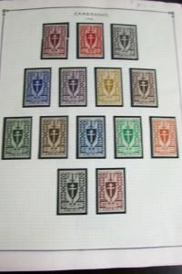 Cameroons Stamp Collection on Specialty Pages. 1941-1978