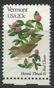 USA - Scott 1997 - State Birds & Flowers - 1982 - MNG - Single 20c Stamp