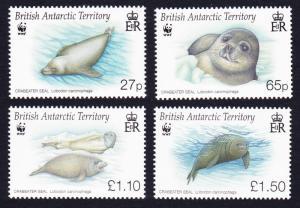 BAT WWF Crabeater Seal 4v SG#506-509 SC#505-508 MI#505-508
