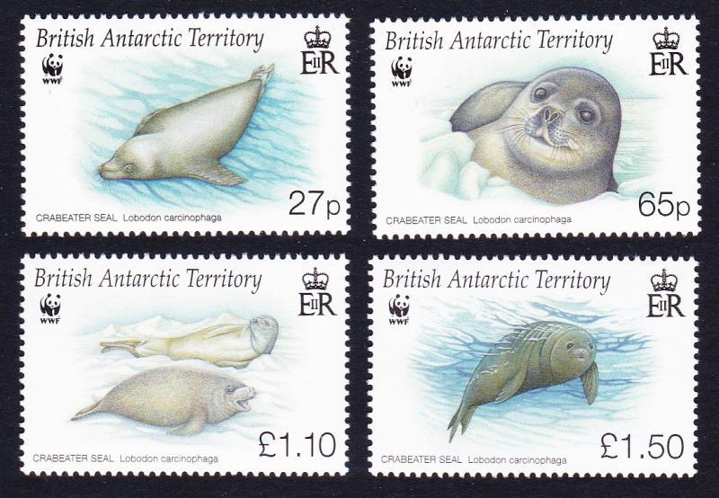 BAT WWF Crabeater Seal 4v SG#506-509 MI#505-508 SC#505-508
