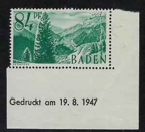 Germany - under French occupation Scott # 5N12, mint nh, var print day