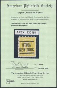 #508c PERF 10 @ BOTTOM VF-XF USED GEM W/ APS CERT (18 KNOWN) CV $10,000 WL8808