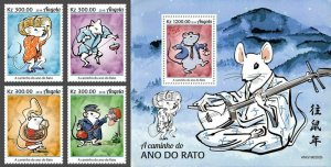 Z08 IMPERF ANG190202ab Angola 2019 Year of the Rat 2020 MNH ** Postfrisch