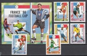 Somali Rep. 1997 Cinderella issue. World Cup Soccer set & s/sheet. *