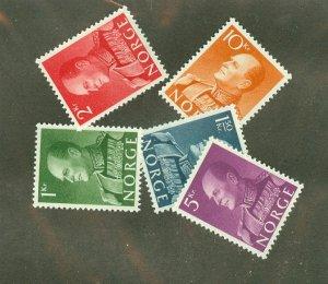 Norway 370-4 MNH CV $90.50