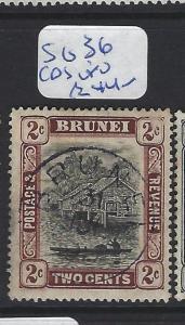 BRUNEI   (PP2807B)  2C   SG 36  SON CDS     VFU