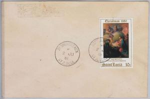 39807   ST LUCIA -  POSTAL HISTORY - COVER with nice postmark: DESRUISSEAUX 1981