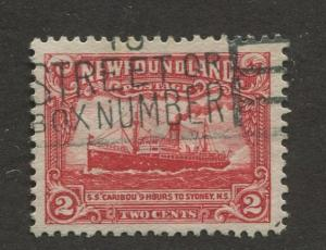Newfoundland - Scott 146 - Pictorial Definitive - 1928- Used - Single 2c Stamp