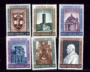 Vatican 317-22 MNH 1961 set