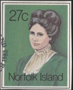 Norfolk Island,  Used cut out-Woman.  From 1983