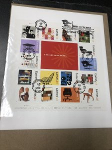 US 4333 Charles & Ray Eames Souvenir First Day Of Issue 2008 In Original Wrapped