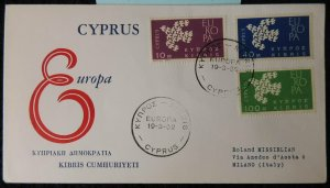 Cyprus 1962 FDC europa cept doves birds good used