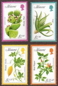 Montserrat #929-32 MH cpl flowers