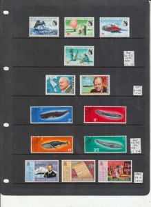 BRITISH ANTARCTIC TERRITORY 1969 MINT+ 1974 AND 1977 SETS MINT/USED