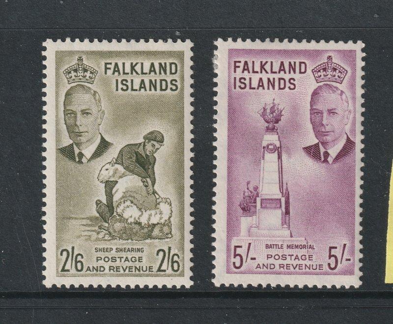 Falkland Is a 2/6 & 5/- KGVI