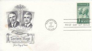 1964, Honoring the Famous Doctors Mayo, Artmaster, FDC (E7779)