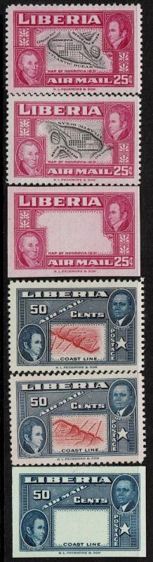 Liberia SC# C68 and C69, Mint Hinged, Mint Never Hinged & Proof, see note -S4959