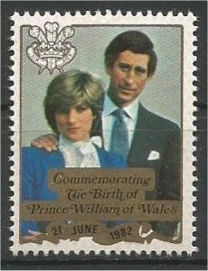 PENRHYN, 1981, MNH, Prince William of Wales. Scott