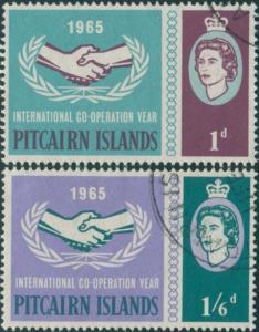 Pitcairn Islands 1965 SG51-52 ICY emblem set FU