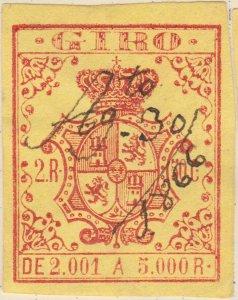 ESPAGNE / SPAIN / ESPAÑA 1861 Sello Fiscal (GIRO) 2,50 reales - Usado