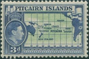 Pitcairn Islands 1940 SG5 3d Map MLH