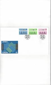Jersey 326-8 EUROPA 84, FDC Jersey Post Office
