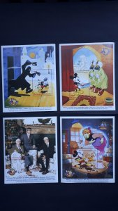 Disney - Central African Republic 1999. ** MNH Block 4x complete