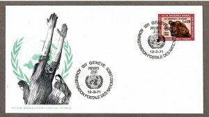 UN Geneva # 16 , International Support for Refugees , FDC - I Combine S/H