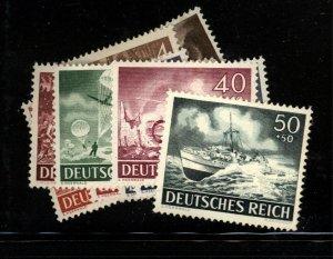 Germany  Scott B218-29 Mi 831-42 Wehmacht Fresh Mint NH set