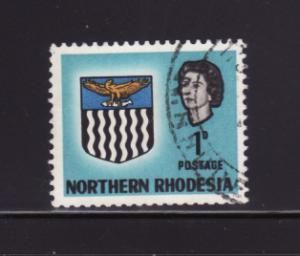 Northern Rhodesia 76 U Queen Elizabeth II, Coat of Arms (B)