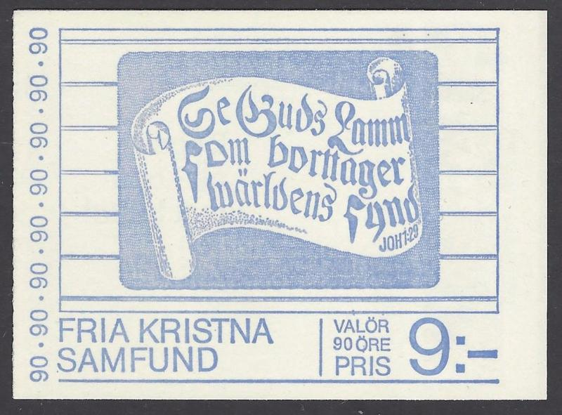 Sweden 1978 Free Churches Booklet VFMNH (1241a)