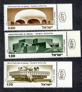 Israel #558 - 560 Architecture MNH singles