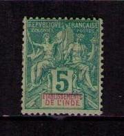 FRENCH INDIA Sc# 4 MH VGF Navigation & Commerce