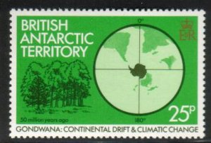 Trees, Continental Drift & Climatic Change, British Antarctic Ter. SC#90 MNH