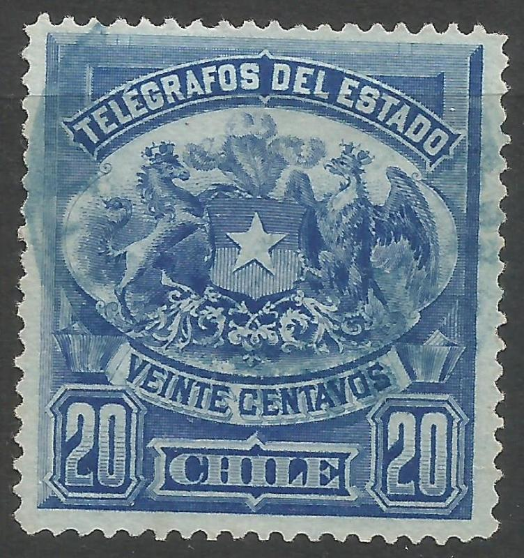 CHILE TELEGRAPHS3 VFU S823
