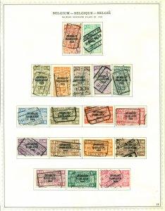 Belgium 1928 #P1-P8 & P10-P19 U SCV(2020) = $38.30
