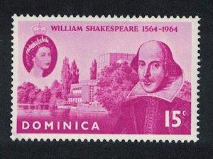 Dominica 400th Birth Anniversary of Shakespeare SG#182