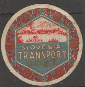 Slovenia Transports?  revenue fiscal stamp 3-23-g