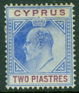 CYPRUS : 1902-04. Stanley Gibbons #53 Very Fine, Mint OGH. Catalog £85.00.