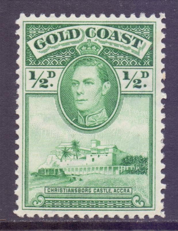 Gold Coast Scott 115 - SG120, 1938 George VI 1/2d Perf 12 MH*