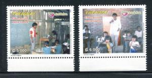 Paraguay 2851-2852, MNH, American Issue Education for All, 2007. x31115