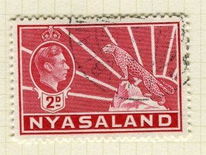 NYASALAND; 1938 early GVI issue fine used 2d. value