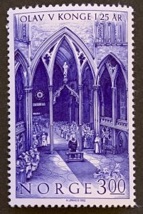 Norway 1982 #809 MNH. Church, royalty