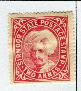INDIAN STATES; SIRMOOR 1885-96 early classic local issue Mint hinged 2a. value